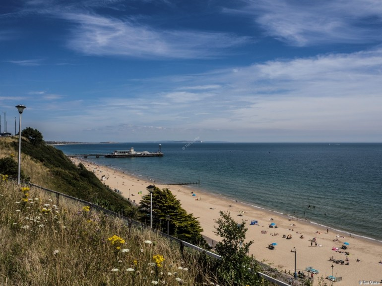 Bournemouth Beach: Looking East towards Hengistbury Head.