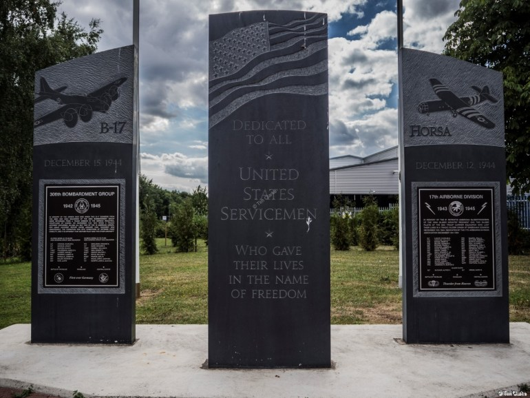 War Memorial: Tucked away in a hidden corner.