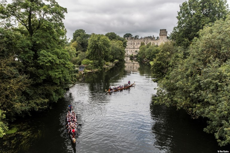 Warwick Castle: Reflections in the River Avon.
