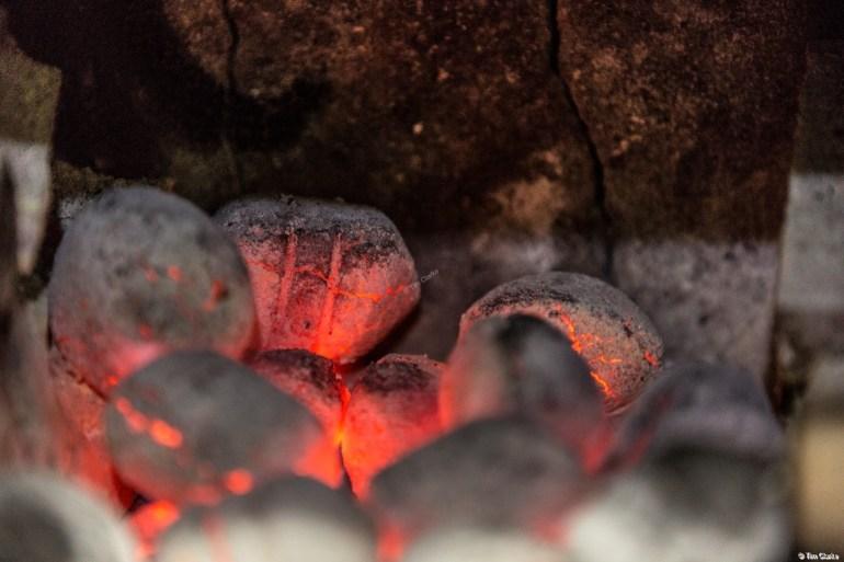 Hot Coals: Glowing heat.