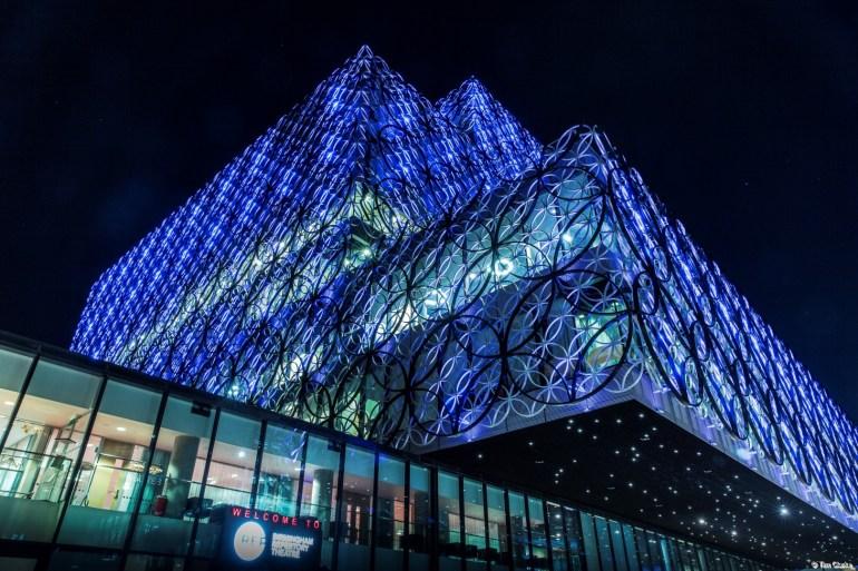 Birmingham Library: Illuminated Landmark.