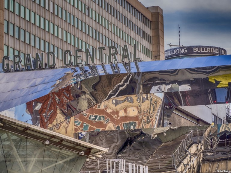 Grand Central, Birmingham: Crazed reflections.