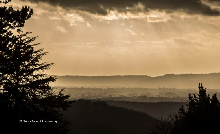A view across the Malvern Hills.
