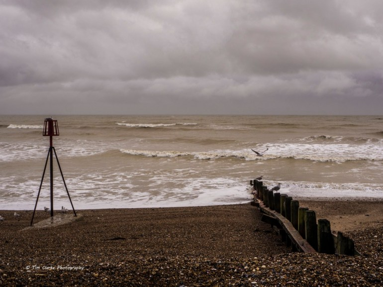 Looking out to Sea on Worthing Beach.