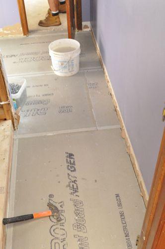 install cement board cbu for floor tile