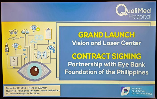 Qualimed Hospital Sta. Rosa partners with Eyebank Foundation Philippines