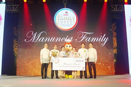 Jollibee Family Values Awards Manuncia