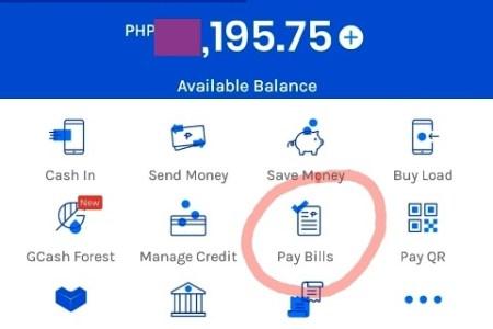 GCash Pay Bills