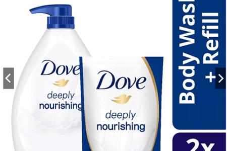 Shopee Unilever BUNDLE Dove Deeply Nourishing Body Wash 1L With 650ml Refill Set