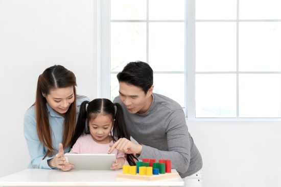 Toddler with Parents