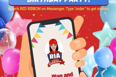 Red Ribbon Birthday Planner on RIA