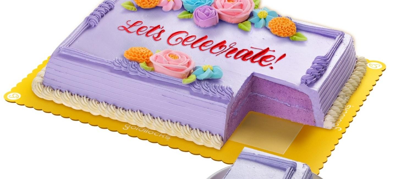 Goldilocks Ube Greeting Cake