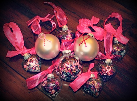 simple diy breast cancer ornaments