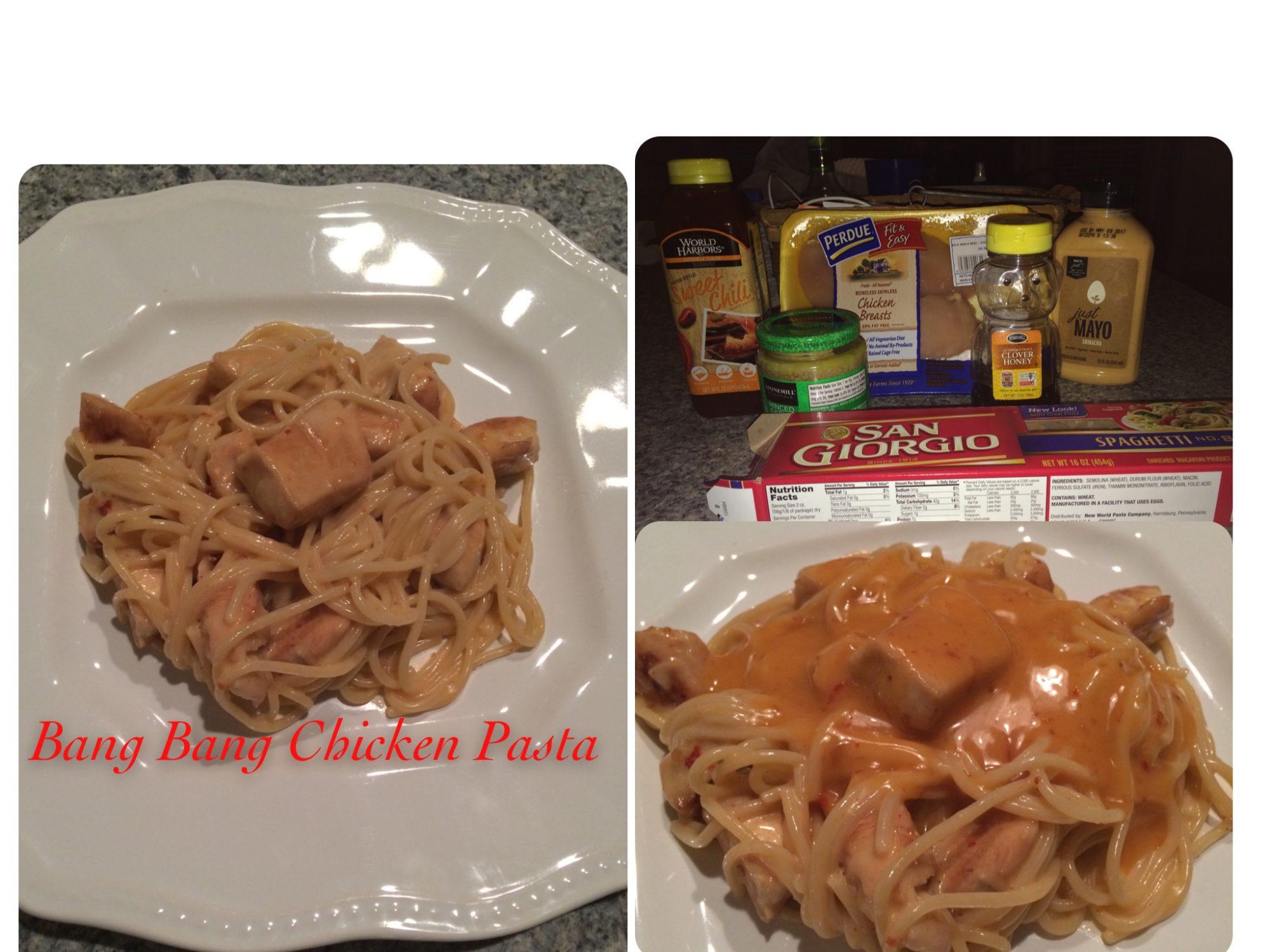 Bang bang chicken pasta dish, recipe