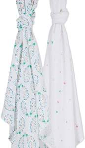 These are by far the best swaddle blankets on the market. Our babies love to be swaddled in these smooth, soft, delicate blankets. These would make the perfect baby shower gift idea!