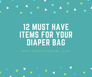 diaper bag items, diaper bag necessities, diaper bag
