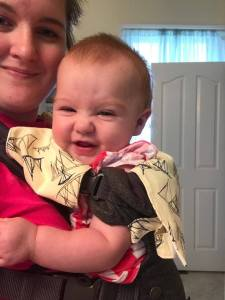 Baby preferred, teething bib and pad, teething, bib for carrier, baby wearing