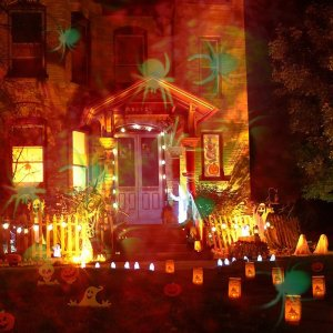LED Outdoor holiday lighting, Amazon Halloween Decor, Halloween decorations, outdoor halloween decor, outdoor decorations, halloween LED lights, Halloween lights