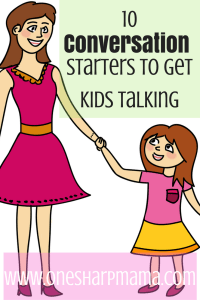 back to school conversations to have with your children to get them to talk about their day. Kids need to open up and discuss their school day with their parents. Try these conversation starters to get the ball rolling.