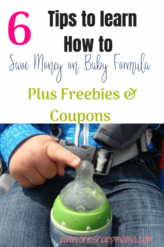 I know how formula feeding can be very expensive. I've put together a list of how to save big dollars on your baby formula and stay to your budget! Grab the list of ways to save on baby formula and learn about all the freebies and coupons to save money. #parenting #parentingonabudget #savemoney #savingmoney #moneysavingtips #formulafeeding