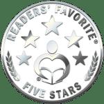 5 star Reader's Favorite - shiny metal stars