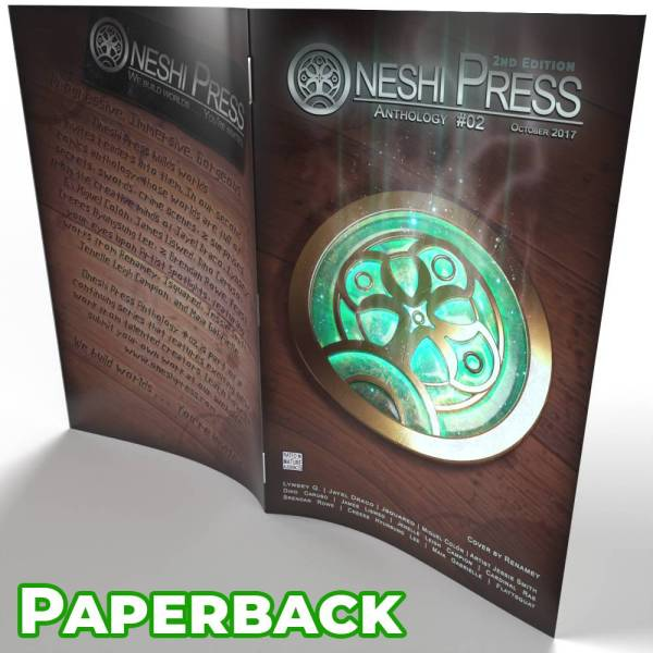Oneshi Press Comics Anthology Number Two paperback cover open