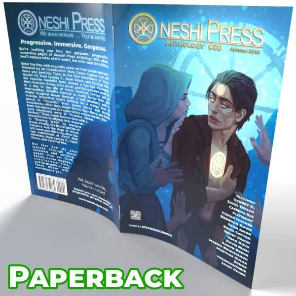 Oneshi Press Comics Anthology Number six paperback cover open