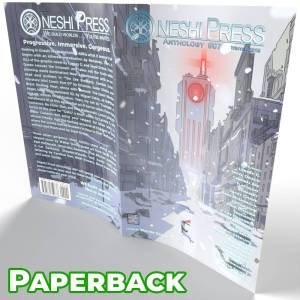 Oneshi Press Comics Anthology number seven, paperback cover open