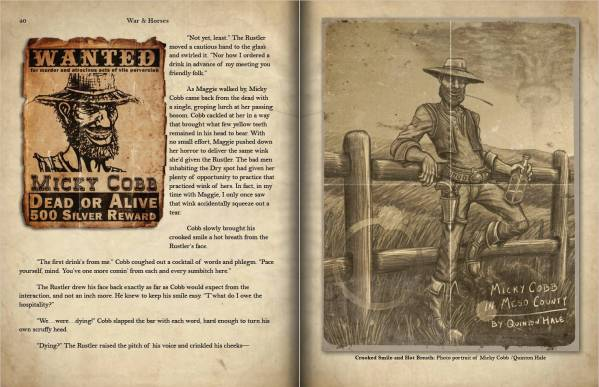 Children of Gaia: War and Horses - Double Page Spread preview of pages 40-41