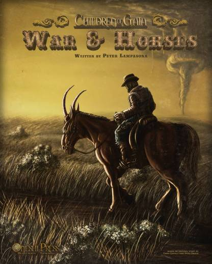 Children of Gaia: War & Horses - illustrated novel book front cover