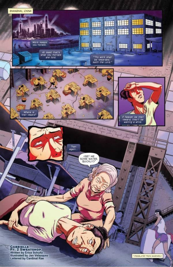 gabrielle erica schultz jan velazquez warehouse sweatshop worker injury comic book oneshi press justice anthology