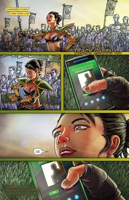 tracy queen warrior woman raccoon cyborgs armor battlefield phone lynsey g jayel draco
