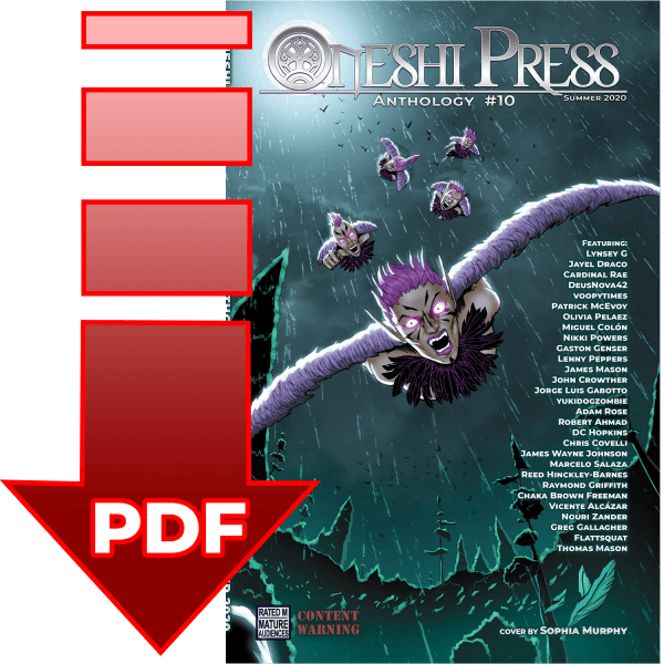 Oneshi Press Comics Anthology 10, Origins: Cover PDF Digital Download square