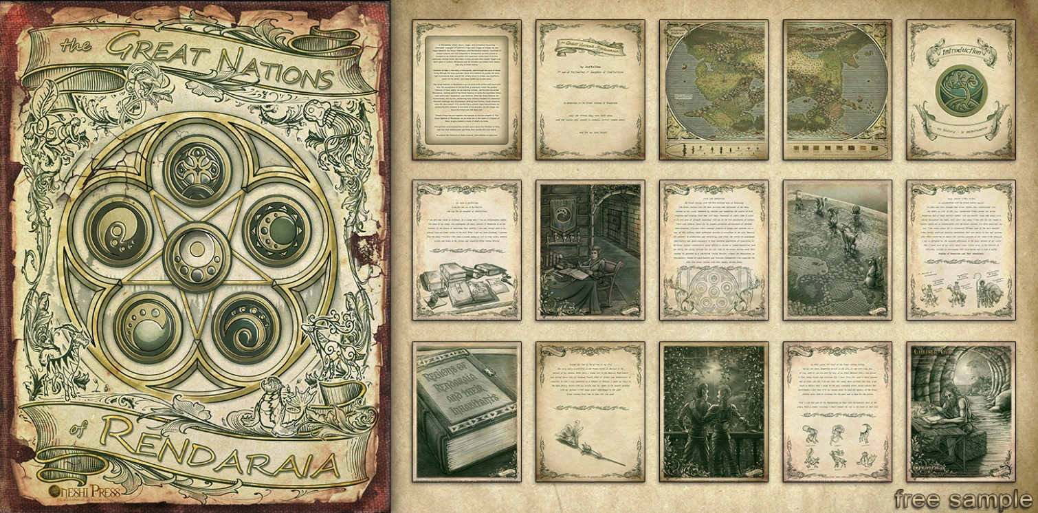 """Oneshi Press's """"Children of Gaia: The Great Nations of Rendaraia"""" Sample - Free Download"""