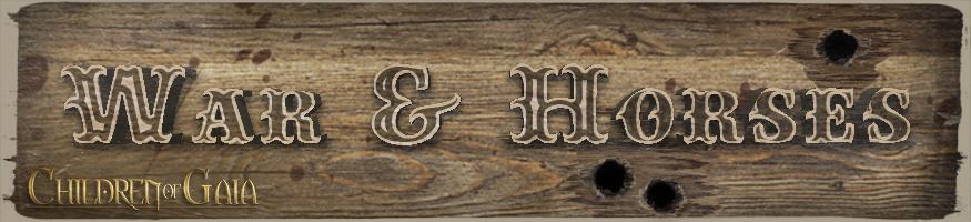COG: War & Horses – Title banner