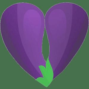 eggplant heart