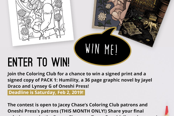 jacey chase oneshi press pack coloring contest