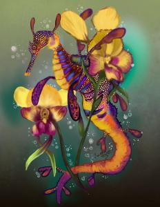 sea dragon seahorse shadowind art flowers creator interview oneshi press