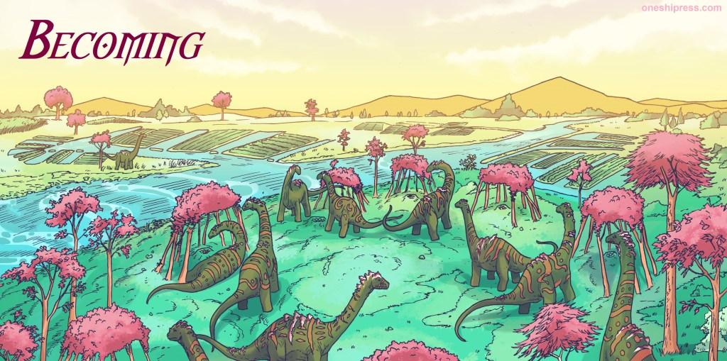 dinosaurs chicxulub impact kyle lawrence becoming anthology oneshi press