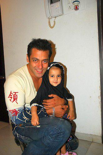 salman with a cute fan