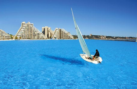 World's Largest Swimming Pool Crystal Lagoons in Egypt
