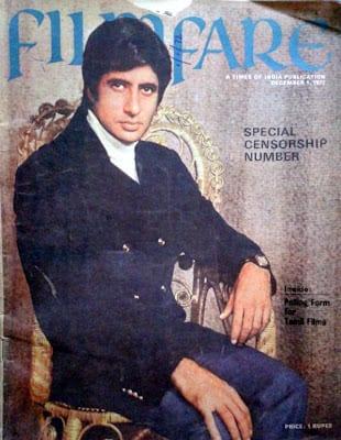 Amitabh Bachchan first ever Filmfare cover December 1972