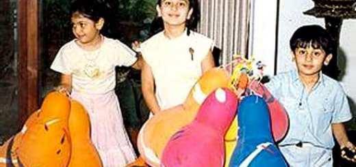 Ranbir Kapoor, Kareena Kapoor & Riddhima Kapoor in an Old Pic