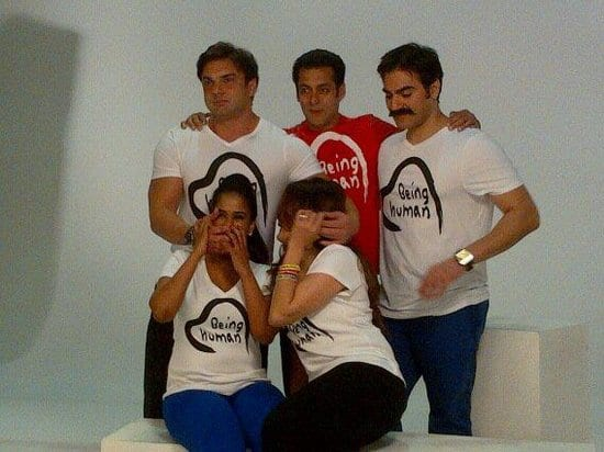 Salman Khan, Arbaaz Khan, Alvira Khan, Arpita Khan and Sohail Khan Spotted