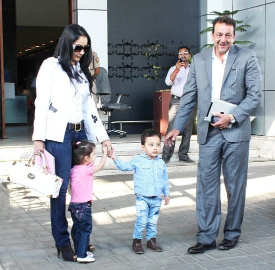 Sanjay Dutt, Manyata Dutt Spotted with their Kids Shahraan and Iqra