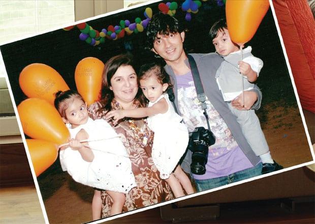 Shirish Kunder, Farah Khan & their children Czar, Diva and Anya