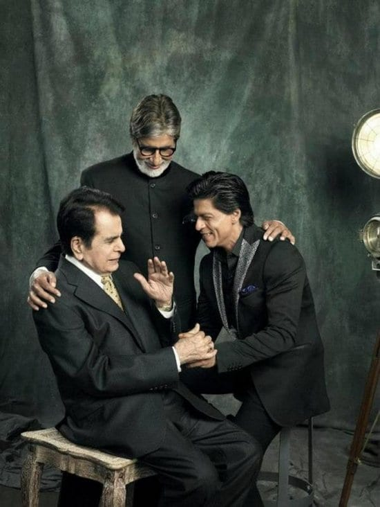 Dilip Kumar, Amitabh Bachchan and Shah Rukh Khan on Filmfare Magazine
