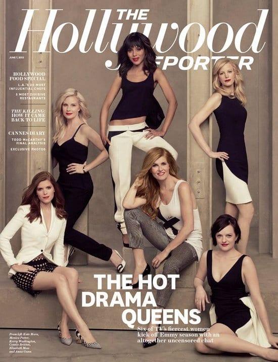 Anna Gunn, Kerry Washington, Monica Potter, Elisabeth Moss, Kate Mara and Connie Britton on The Hollywood Reporter Magazine