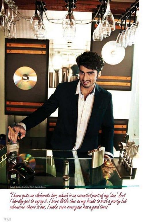 Arjun Kapoor and his Home in Filmfare Magazine