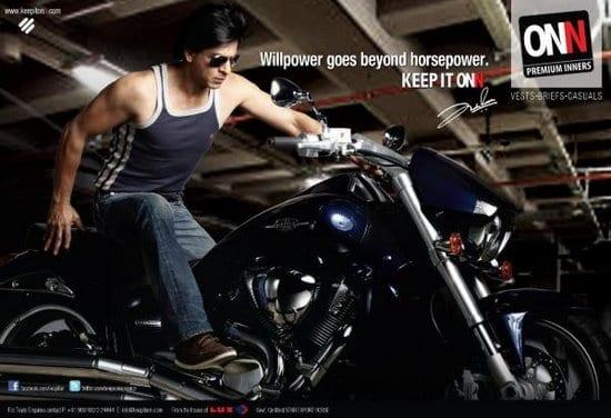 Shah Rukh Khan in ONN Ads